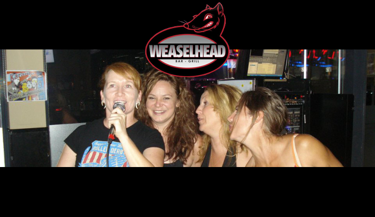 Women singing karaoke at The Weaselhead